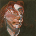 "Francis Bacon :  "" Autoportrait ""  -1965 � Coll.part"