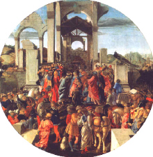 "Sandro Botticelli : "" L'Adoration des Mages"" 1474  - (c) The National Gallery -  Londres"