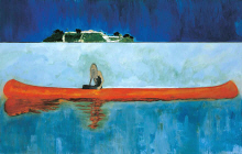 "Peter Doig : "" 100 Years Ago""  2005-2007 - (c) Centre Pompidou,  Musee National d Art Moderne - Paris"