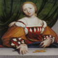 "Hans Holbein : ""Lais of Corinth "" -  34.6  26.8 cm -  Kunstmuseum Base"