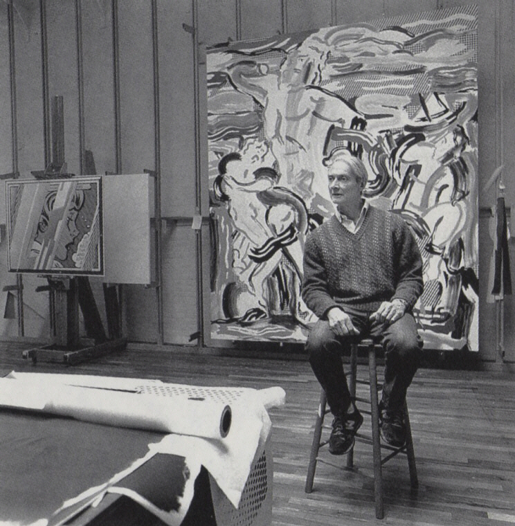Roy Lichtenstein dans son atelier de New York 1988