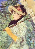"Edouard Manet  ""  Printemps (Jeanne de Marsy) "" 1881 � Coll. Part."