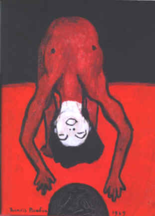 Francis Picabia : 'L'Acrobate'; 1949; huile sur toile; 65 x 54 cm