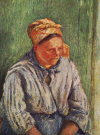 "C.Pissarro : "" La M�re Larchev�que ""   1880  � Coll. Part."