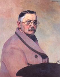 """Félix Vallotton """" Autoportrait à la robe de chambre """" 1914 © Musée des Beaux Arts  Lausanne"""