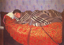 "Felix Vallotton :  "" Femme couchee dormant "" 1899 - (c)  Coll. Part."