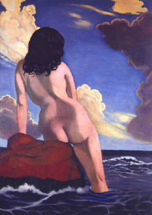 "Felix Vallotton  : "" Baigneuse "" 1916  - (c) Coll. Part."