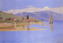 "Felix  Vallotton  : ""Le port de Pully "" 1891 - (c)  Musee de Pully"