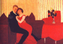 "Felix Vallotton  : ""Le mensonge "" 1898  - (c) Museum of Art - Baltimore"
