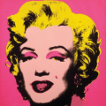"Andy Warhol :  "" Marilyn "" 1967 - Collection of The Andy Warhol Museum -  Pittsburgh"