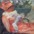 "Mary Cassatt : "" La tasse de th� "" � Coll. part."