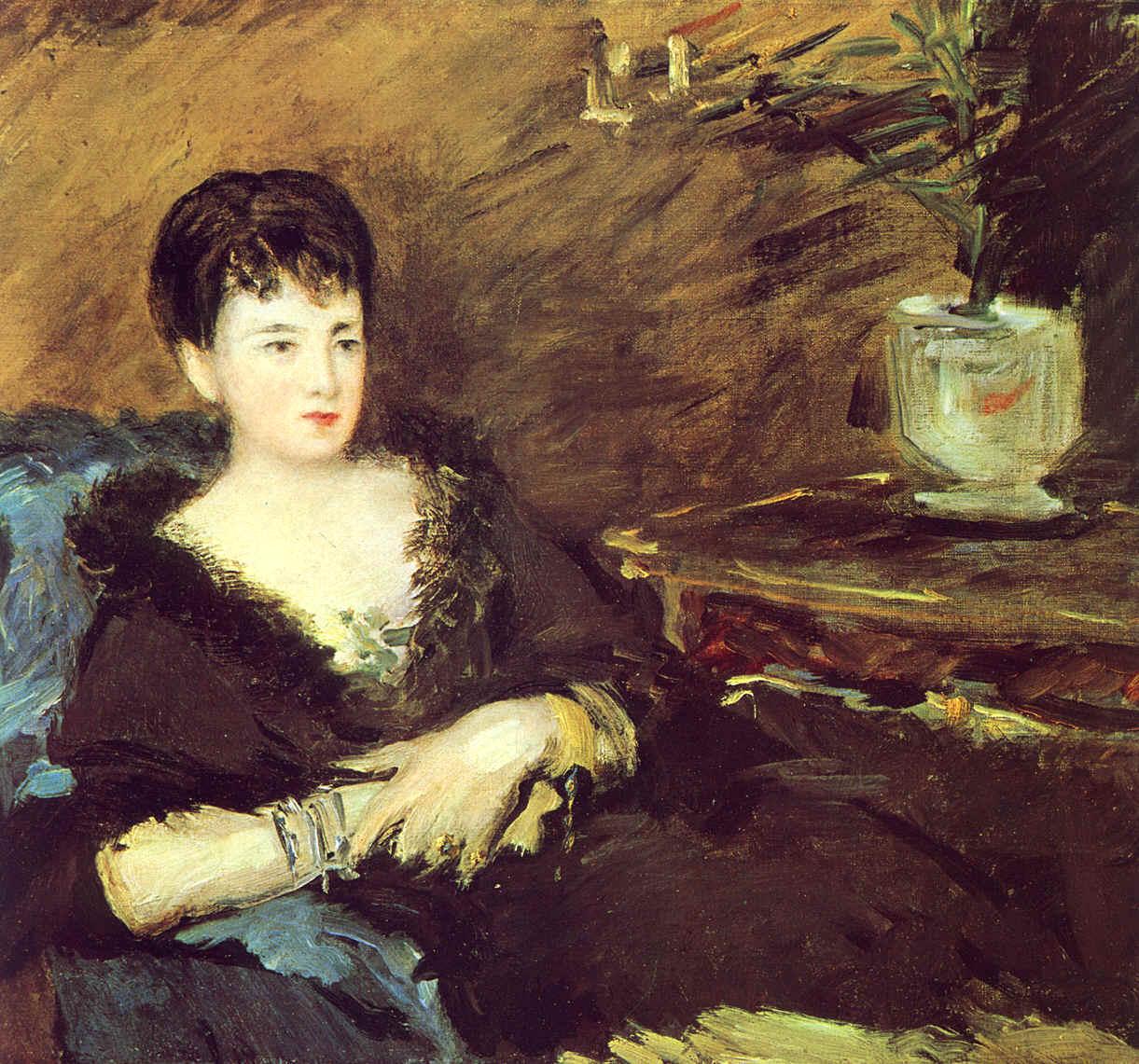 Manet, Isabelle Lemonnier assise, 1878, coll. part. | Peintre manet, Peintre impressionniste ...