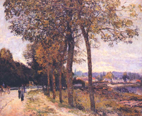 "Alfred Sisley : "" La Seine à Marly "" 1869 Huile sur toile 60 x 74 cm ..."